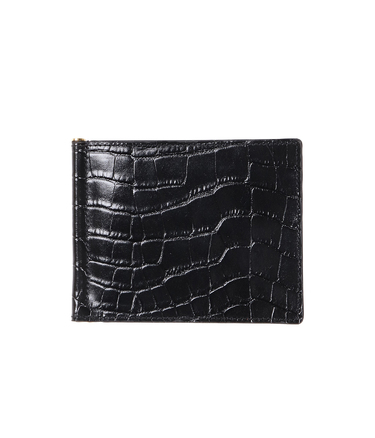 PORTER / CROCODILE EMBOSSED CLIP WALLET