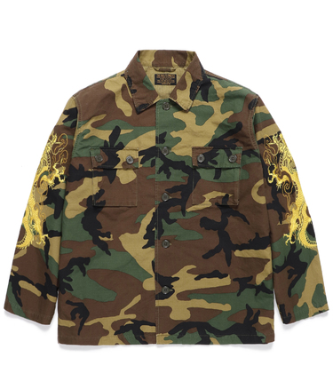 TIM LEHI / WOODLAND CAMO ARMY SHIRT