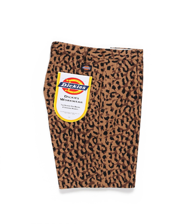 DICKIES / LEOPARD PLEATED SHORT TROUSERS
