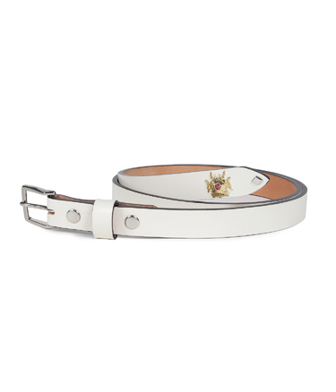 WOLF'S HEAD / TC STUDS LEATHER BELT